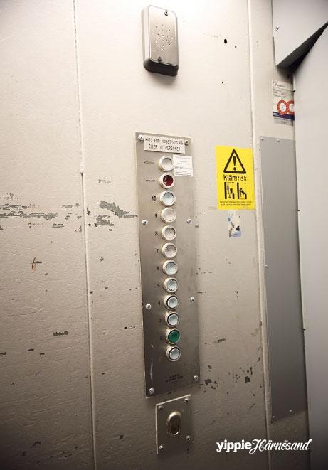 Härnösands enda hiss med tio våningar?