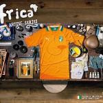 """""""Inför något fotbollsmästerskap lät Puma afrikanska konstnärer från olika länder göra collage som jag sedan fotograferade. Det här är gjort av Ernest Duku från Elfenbenskusten"""""""