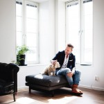 Hunden Elma är egentligen dottern Emmas, men bor hos Jörgen.
