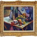 """Dyrgripen """"Stilleben med bord och buteljer"""" kommer att visas på Konsthallen i sommar."""