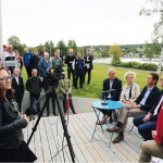 Nyheten om Patrik Attini släpptes vid en presskonferens vid Simhallen.