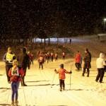 De allra yngsta åkte 500 meter och utan tidtagning