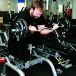 Idag står styrketräning på träningschemat för Peter Jonsson.