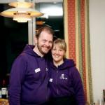 Lars-Erik Jonsson och sambon Lina Nilsson är två av kvällens tio medarbetare