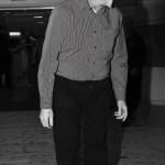Bertil Sedin från Övik känner på det nyvallade dansgolvet