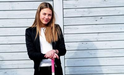 I augusti börjar Mathilda Nilsson på riksinnebandygymnasiet i Umeå.