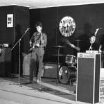 """Härnösandsbandet The Blue Stars med Svante Blomqvist, Sten Gustin, Lars """"Flosse"""" Flodin och Jan Sandström. Bandet ombildades senare till Odds & Ends och blev The Move Clubs husband."""