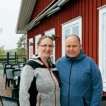 Sandra och Marcus Fästlund driver restaurang för första gången.