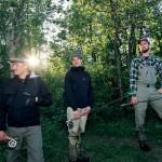 Marcus Öberg, Mikael Nilsson och Nisse Johansson fiskar tillsammans så ofta som de bara kan.