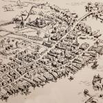 Så här såg Härnösand ut i slutet av 1600-talet. Illustration: Sven Wallin.
