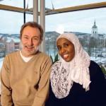 Anders Bergman och Hibo Abdullahi är två av dem som driver arbetet vidare efter att Stig Wallin avled förra året, symboliskt nog just 5/12. Foto: Per Karlsson