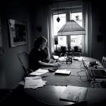 En vanlig vecka jobbar Ylva tre dagar i Uppsala och resterande två hemifrån.