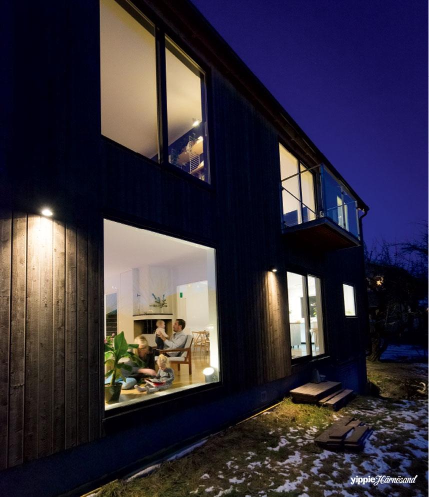Järnvitriolbehandlad panel och stora fönster ger femtiotalshuset ett helt nytt uttryck.