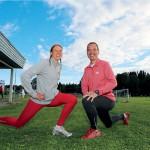 Ledarna Anna Tjell och Anders Emnegard brinner för löpning.