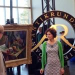 Konsthallens intendent Maria Oldenmark och framför allt tavlan av Matisse spelade huvudrollen i Antikrundan 13 mars.