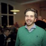 Malte Frisk, VD på Logosol, är nöjd med kvällen.