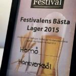 En av Hernö Hantverks-öls många utmärkelser.