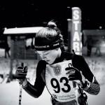 Elin Edström, BIK, förbereder sig för start