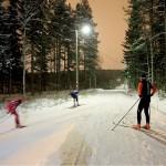 Bondsjöhöjdens IK Skidor har riktigt bra spår tack vare snökanonerna