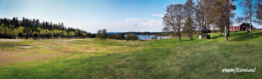 Fina vyer på Vägnös golfbanor.