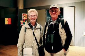 Mona Stråling och Hans Alm från Stockholm på Länsmuseet