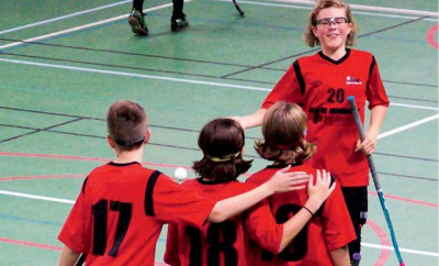 Hemmagrabbarna i IBK Härnösand slutade fyra av de tio deltagande lagen. Foto Maria Hellhoff