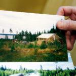 Stommen till huset som Matilda byggde själv vid Storsjön.