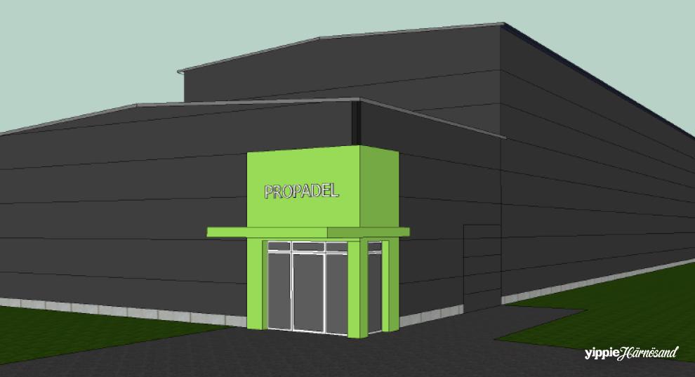 Så här kan nya padelhallen se ut i Härnösand