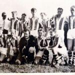 """Lagbilden 1950: Tedde Sundquist, Malte Englund, """"Gytta"""" Edfeldt, Tore Rosén, Rolf Andersson, Roland von Dolvitz, """"Lenken"""" Pettersson, Lasse Lundqvist, Stig Boström, Cacka Modig, Ove Lundgren och Stig Åström."""