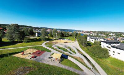Den nya lekparken på Artillerigatan