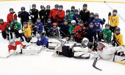 Gruppbild hockeyläger
