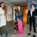 Christine Zaremba, Linnéa Bodlund Haglund och Amanda Romby är tre av eleverna på distansutbildningen.