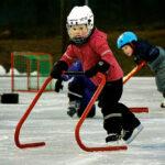 Celine Lingensjö höll bra fart igenom slalombanan.